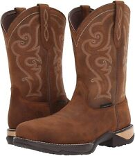 Ariat 185486 Womens Square Toe Wingtip Western Cowboy Boot Brown Size 9.5 B