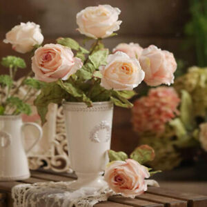 Ceramic Vase White Home Office Flower Jug Decor Shop Farmhouse Pottery Vases