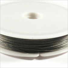 Wired Wire Steel Wrapped Nylon 0,38mm – 80m Grey for Jewelery Creation