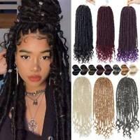 Pack Goddess Faux Locs Braid Ombre Piece Twist Crochet Full Head Hair Extensions