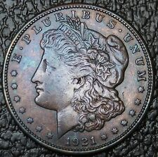 Morgan Dollar  (1921-S) - Gorgeous Rainbow -