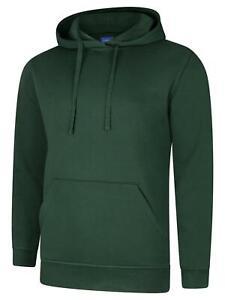 Deluxe Hooded Sweatshirt UC509 Bottle Green Large