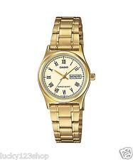 LTP-V006G-9B Gold Casio Ladies Women Watches Steel Band Brand-New