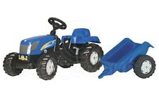 Rolly Toys - New Holland T 7040 Tractor Ride on with Matching Trailer Age 2 1/2+