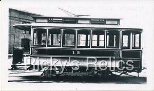 B&W Photo Atlantic Coast Electric Ry #15 Streetcar New Jersey 1920s