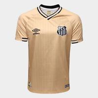 Santos Third Golden Soccer Football Jersey Shirt - 2018 2019 Umbro Brazil