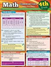 Math Common Core 4th Grade by BarCharts Laminated Quick Study Guide