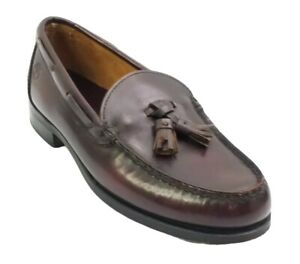 Vintage Timberland Leather Tassel Loafers Mens Size 6 W Made in USA Burgundy