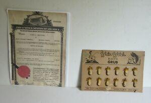 OLD Vintage 1944 Lure Display RARE Bait Grubs Indiana