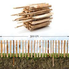 Steckzaun Haselnuss Beet Einfassung Roll Staketen Garten Holz Teich Zaun Pfosten