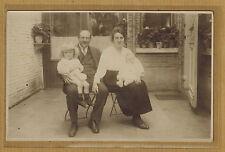 Carte Photo vintage card RPPC famille homme femme enfants 1922 kh0293