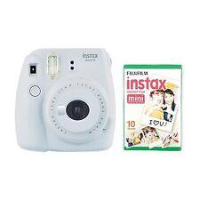 FUJIFILM Instax Mini 9 Instant Camera with 10 Shots Smoky White