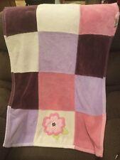 Tiddliwinks Baby Security Blanket Plush Flower Purple Lavender Pink Plum Girl