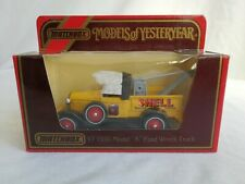 "Matchbox Models of Yesteryear Y7 1930 Model ""A"" Ford Wreck Truck - Shell"