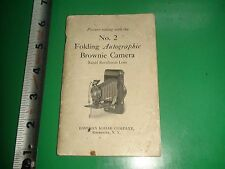 JC438 Vintage 1924 No.2 Folding Autographic Brownie Camera Guide