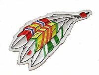 VIETNAM SERVICE RIBBONS ON NATIVE AMERICAN FEATHERS PATCH INDIAN INDIGENOUS