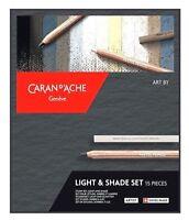 Caran d'Ache 15 Light & Shade Set Drawing Shading Blending Sketching Pastel Art