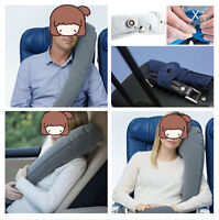 Grey Inflatable Travel Pillow Neck Pillow Adjustable Travel Accessories for Car