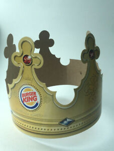 Burger King Crown Paper Hat From Usa Collectible BK B K Company advertising