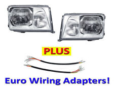 DEPO 1994-1995 Mercedes-Benz W124 Euro Glass Headlights Set + Wiring Adapters