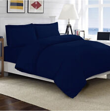 100 Egyptian Cotton Duvet Quilt Cover Set Single Double King Size Bed Sheets Navy Double