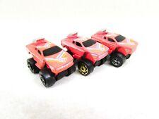 Vintage Road Champs Ferrari Micro Mini Pink Car Set of 3 1987 China