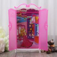 Princess Furniture Wardrobe Barbie Dolls Toys Doll House Closet Toy Accessories