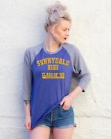 Buffy the Vampire Slayer Blue Baseball T-Shirt | Sunnydale High School