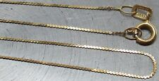 "SOLID 14K YELLOW GOLD Italian Serpentine Chain 16-1/4"" Necklace - NO RESERVE!"