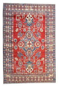 Large Kazak Rug Handmade Carpet Oriental Red Blue Area Rug 232x346cm