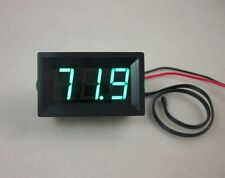 DC 12V Green LED Digital Thermometer -50~220F Fahrenheit Temperature+Temp Probe