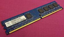 1GB NANYA NT1GT64U8HB0BY-3C pc2-5300u 667MHz DDR2 NON - ECC memoria per PC