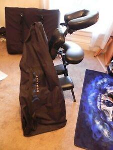 Sierra Comfort Black PU Leather Spa Salon Tattoo Massage Chair & Case