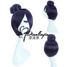 NARUTO Konan Short Dark Purple Ball Cosplay Party Wig Hair