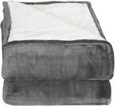 Fleece Blanket Throw Reversible Sherpa Flannel Extra Soft Plush Utopia Bedding