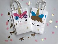 Unicorn favor bags/ Party supplies/ Goodie Bags/ Favor Bags  SET OF 8
