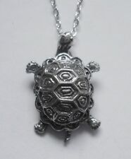 Turtle (23mm x 17mm) Chain Necklace #2230 Pewter Little