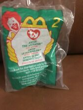 McDonalds 1999 Ty Beanie Baby Antsey the Anteater Still in Wrapper