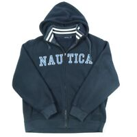 Vintage NAUTICA Spell Out Thick Sherpa Fleece Jacket | Mens 2XL | Hoodie Coat
