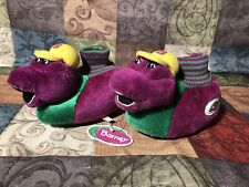 RARE Barney The Dinosaur Slippers Brand New Kids Size Large 9-10