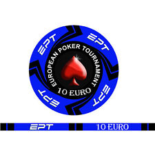 Blister da 25 fiches EPT CASH GAME  Replica poker Ceramica 10 gr. valore 10 EURO
