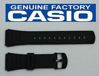 CASIO DBC-32C 22mm Original Black Rubber Watch BAND Strap DATA BANK DBC-32C