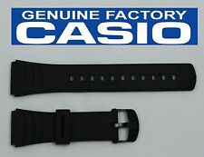 CASIO DBC-32C 22mm Original Black Rubber Watch BAND Strap DATA BANK DBC-32C