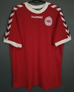MEN'S DENMARK NATIONAL 2002/2003 DANSK HOME SOCCER FOOTBALL SHIRT JERSEY SIZE XL