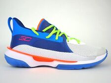 Mens Under Armour Curry 7 3021258 404 Blue White Lace Up Basketball Shoes