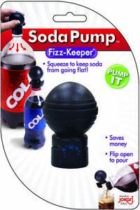 Jokari 05100 – Fizz Keeper with Flip Top Lid – Soda Pressure Pump & Pour - Black
