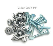 """Pet Carrier Crate Kennel Zinc Metal Fasteners Nuts & Bolts 1-1/4""""  (16 MED Pack)"""