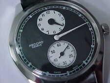 Vintage Record Doctors Watch Regulator Stainless Steel Screw Back 35mm Case