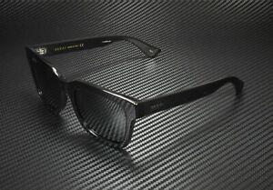 GUCCI GG0001S 001 Black Men's Rectangular Square Sunglasses 52mm