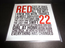 "TAYLOR SWIFT ""RED"" RADIO SAMPLER CD Universal Music Brazil VERY RARE 2012 PROMO"